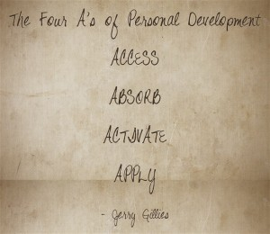 The Four A's of Personal Development